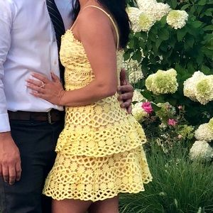 Yellow dress wedding or party